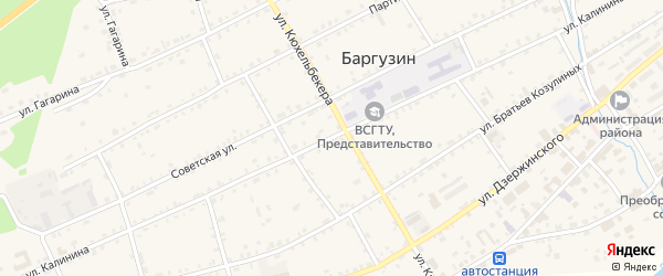 Улица Калинина на карте села Баргузина с номерами домов