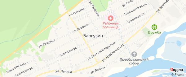 Карта села Баргузина в Бурятии с улицами и номерами домов