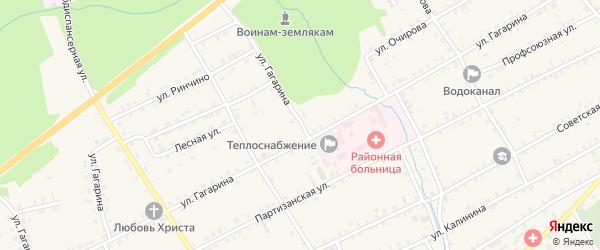 Улица Гагарина на карте села Баргузина с номерами домов