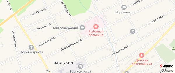 Партизанская улица на карте села Баргузина с номерами домов