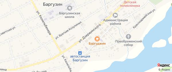 Улица Дзержинского на карте села Баргузина с номерами домов