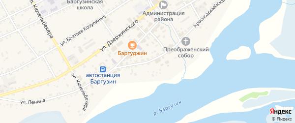 Красноармейская улица на карте села Баргузина с номерами домов