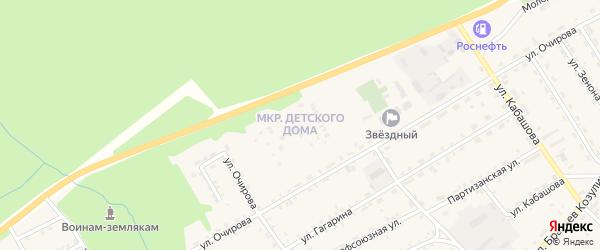 Микрорайон Детского дома на карте села Баргузина с номерами домов