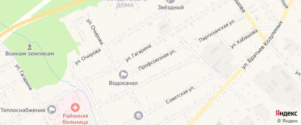 Профсоюзная улица на карте села Баргузина с номерами домов