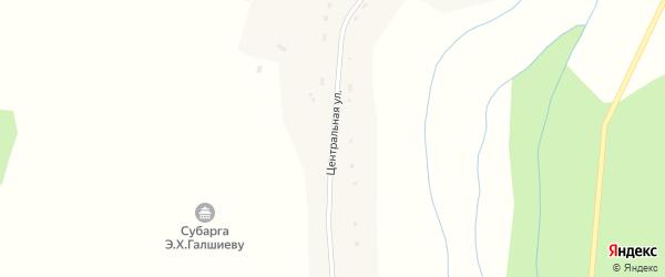 Центральная улица на карте улуса Куорка с номерами домов