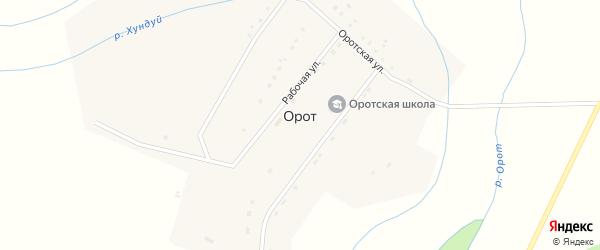 Оротская улица на карте улуса Орот с номерами домов