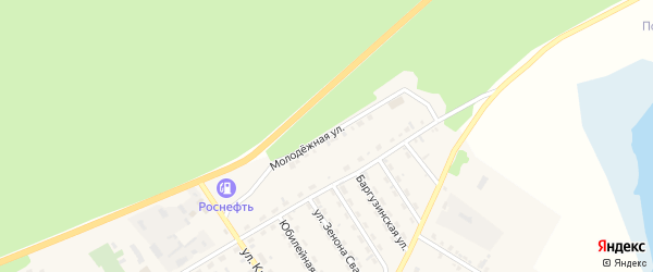 Молодежная улица на карте села Баргузина с номерами домов
