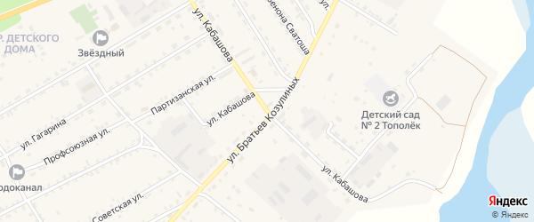 Улица Кабашова на карте села Баргузина с номерами домов