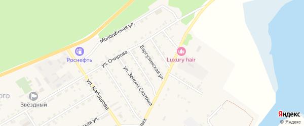 Баргузинская улица на карте села Баргузина с номерами домов