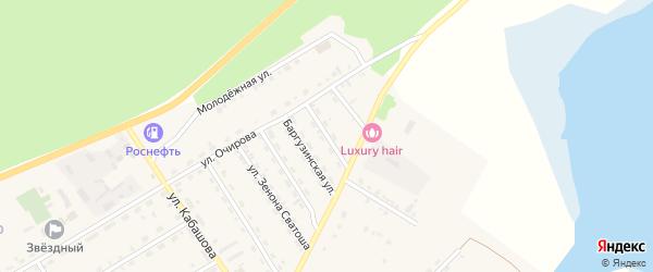 Октябрьская улица на карте села Баргузина с номерами домов