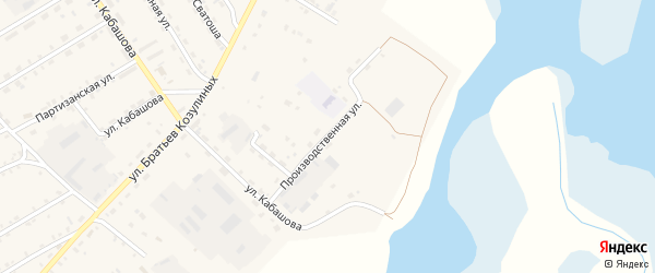 Производственная улица на карте села Баргузина с номерами домов