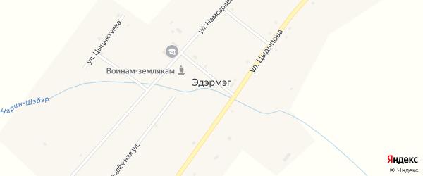 Молодежная улица на карте улуса Эдэрмэг с номерами домов