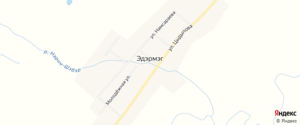Карта улуса Эдэрмэг в Бурятии с улицами и номерами домов