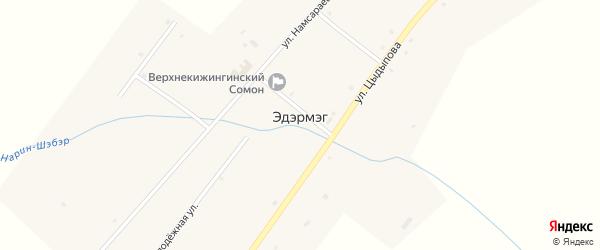 Улица Цыцыктуева на карте улуса Эдэрмэг с номерами домов