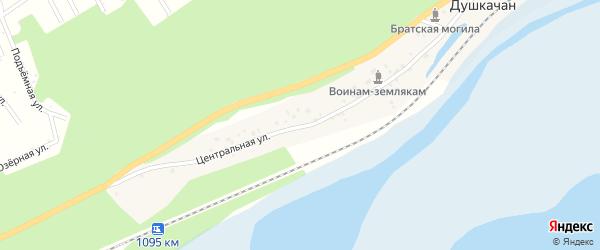 Центральная улица на карте поселка Душкачана с номерами домов