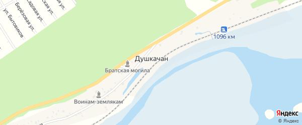 Речная улица на карте поселка Душкачана с номерами домов