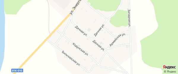 Дачная улица на карте села Хоринск с номерами домов