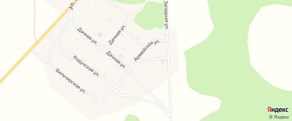 Сосновая улица на карте села Хоринск с номерами домов