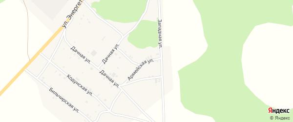 Армейская улица на карте села Хоринск с номерами домов