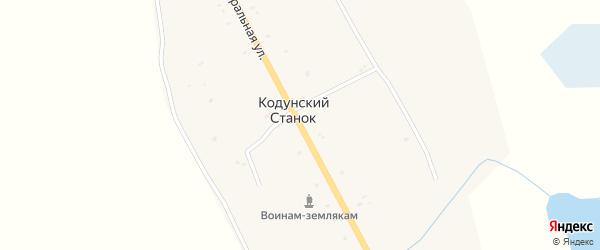 Центральная улица на карте улуса Кодунский Станка с номерами домов