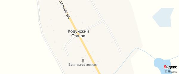Молодежная улица на карте улуса Кодунский Станка с номерами домов