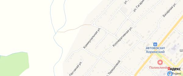 Коммунальная улица на карте села Хоринск с номерами домов