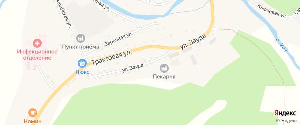 Улица Зауда на карте села Хоринск с номерами домов