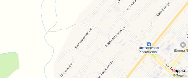 Зэргэлэйский переулок на карте села Хоринск с номерами домов