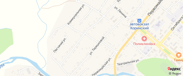 Кузнечная улица на карте села Хоринск с номерами домов