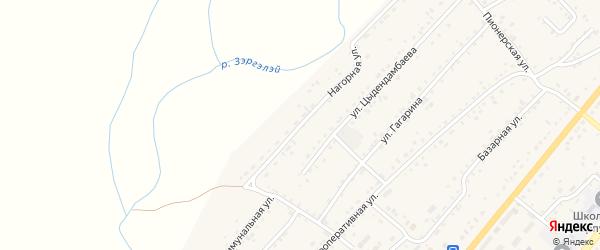 Нагорная улица на карте села Хоринск с номерами домов