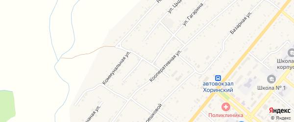 Зэргэлэйская улица на карте села Хоринск с номерами домов
