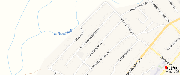 Улица Цыдендамбаева на карте села Хоринск с номерами домов