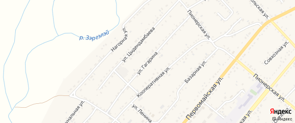 Улица Гагарина на карте села Хоринск с номерами домов