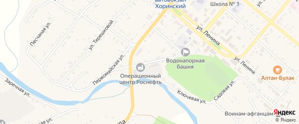 Театральная улица на карте села Хоринск с номерами домов