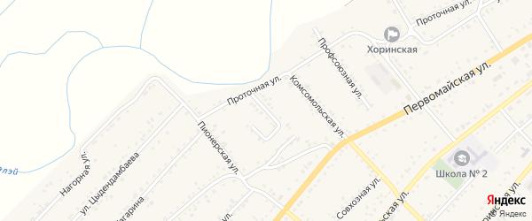Пролетарская улица на карте села Хоринск с номерами домов