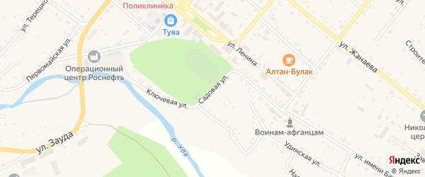 Садовая улица на карте села Хоринск с номерами домов