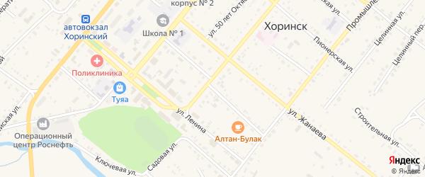 Гражданская улица на карте села Хоринск с номерами домов