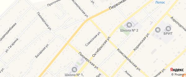Совхозная улица на карте села Хоринск с номерами домов