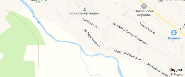 Набережная улица на карте села Хоринск с номерами домов