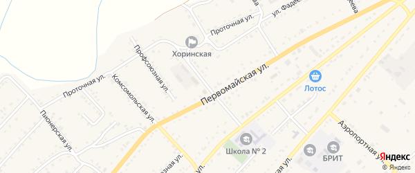 Улица Пушкина на карте села Хоринск с номерами домов