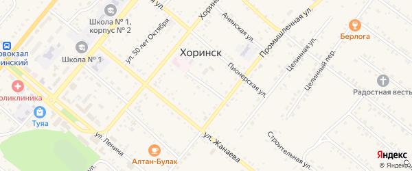Пионерский переулок на карте села Хоринск с номерами домов