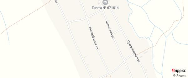 Молодежная улица на карте села Читкана с номерами домов