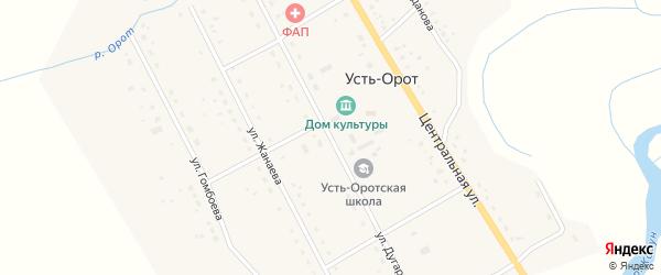 Улица Дугарова на карте улуса Усть-Орот с номерами домов