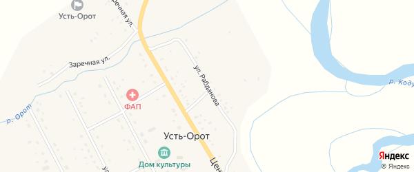 Улица Рабданова на карте улуса Усть-Орот с номерами домов