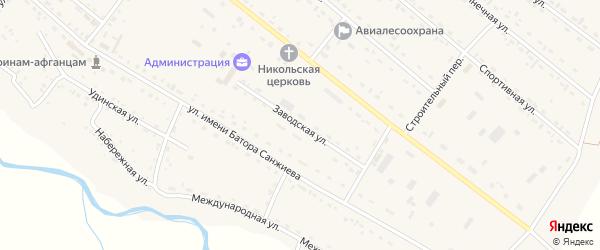 Заводская улица на карте села Хоринск с номерами домов