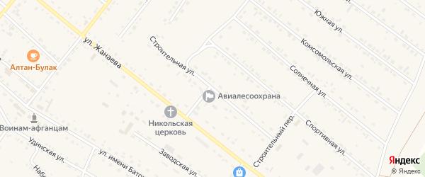Строительная улица на карте села Хоринск с номерами домов