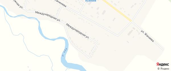 Международная улица на карте села Хоринск с номерами домов
