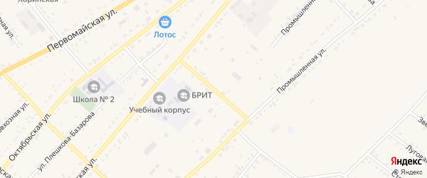 Аэропортная улица на карте села Хоринск с номерами домов