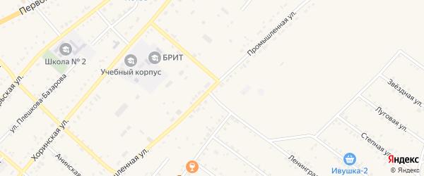 Промышленная улица на карте села Хоринск с номерами домов