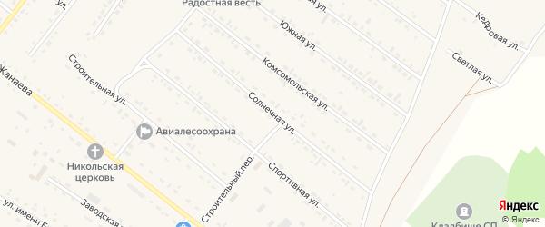 Солнечная улица на карте села Хоринск с номерами домов